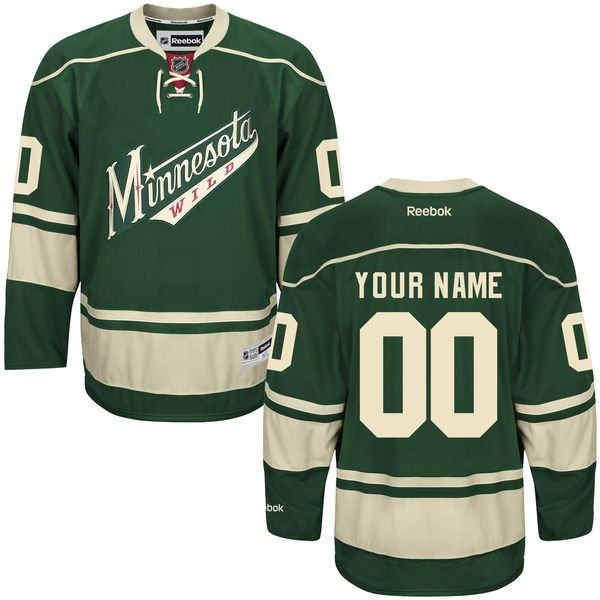 Reebok Minnesota Wild Men Premier Alternate Custom NHL Jersey - Green