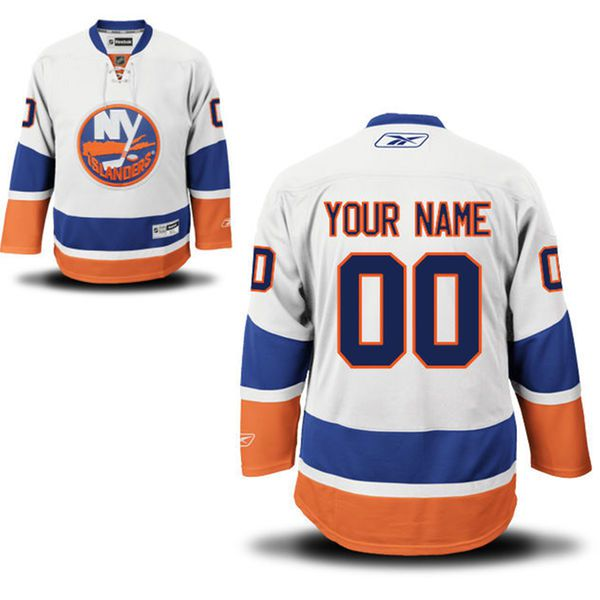 Reebok New York Islanders Men Premier Away Custom NHL Jersey - White