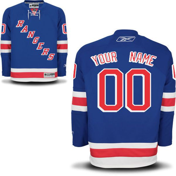 Reebok New York Rangers Men Premier Home Custom NHL Jersey - Blue
