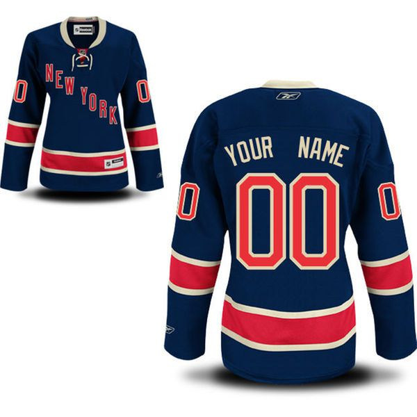 Reebok New York Rangers Women Premier Alternate Custom NHL Jersey - Blue