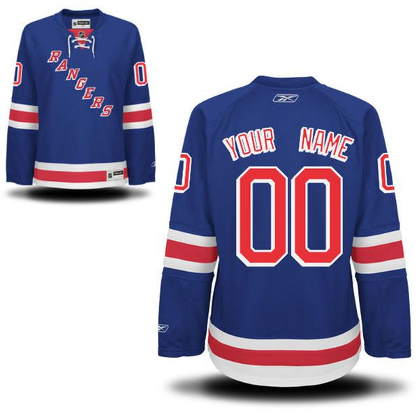 Reebok New York Rangers Women Premier Home Custom NHL Jersey - Blue