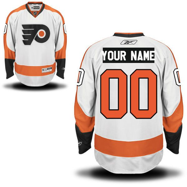Reebok Philadelphia Flyers Men Premier Away Custom NHL Jersey - White