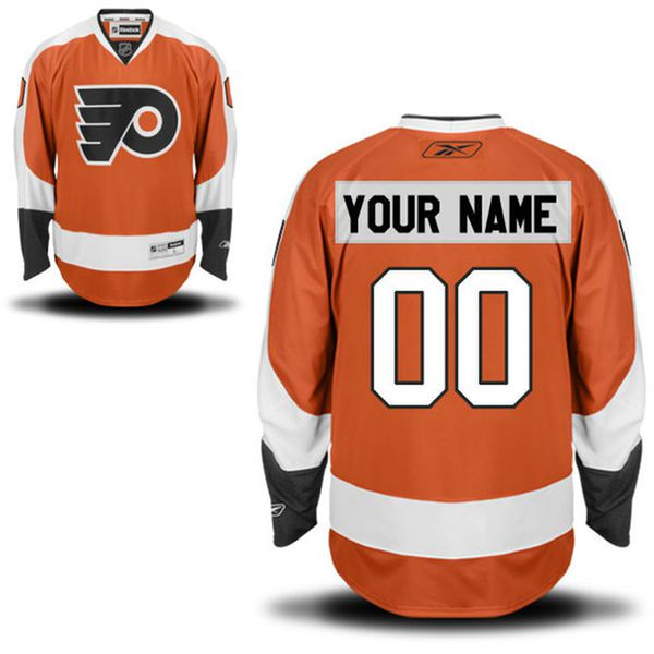 Reebok Philadelphia Flyers Men Premier Home Custom NHL Jersey - Orange