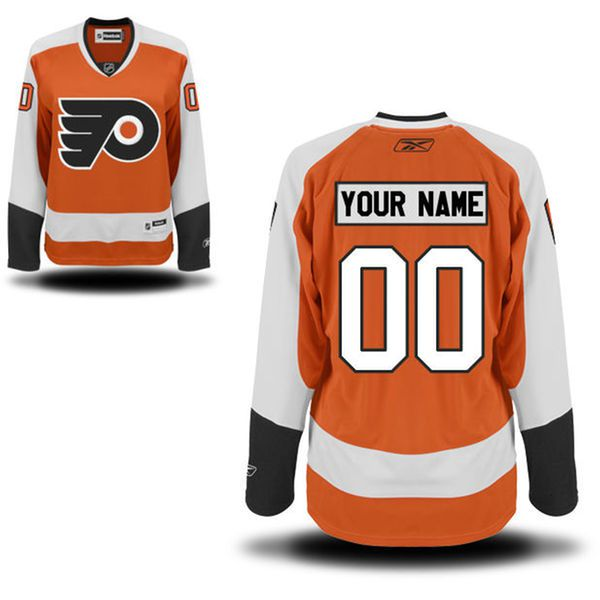 Reebok Philadelphia Flyers Women Premier Home Custom NHL Jersey - Orange