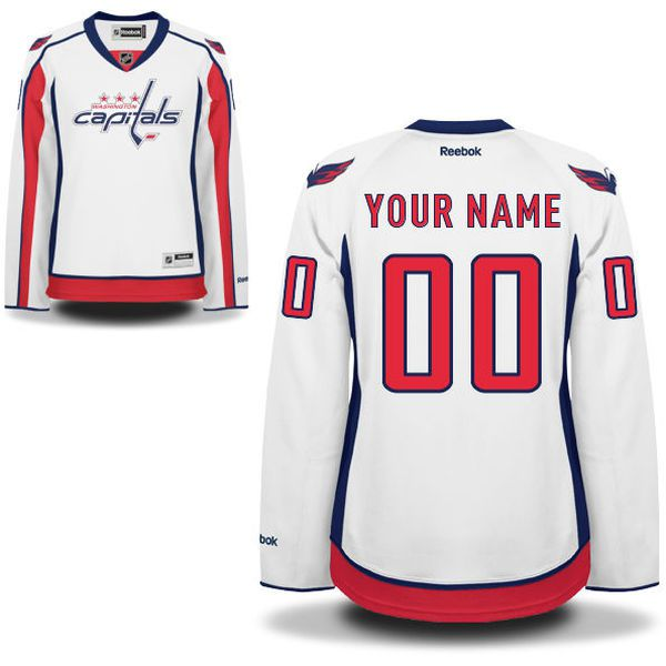 Reebok Washington Capitals Women Premier Away Custom NHL Jersey - White