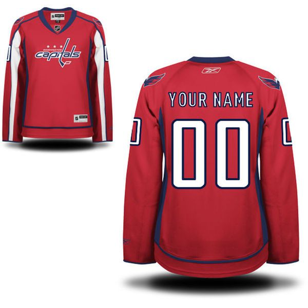 Reebok Washington Capitals Women Premier Home Custom NHL Jersey - Red