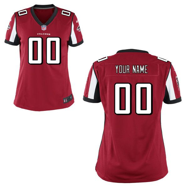 Women Atlanta Falcons Nike Red Custom Game NFL Jersey