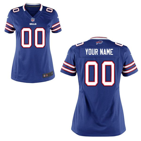 Women Buffalo Bills Nike Royal Blue Custom Game NFL Jersey