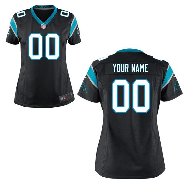 Women Carolina Panthers Nike Black Custom Game NFL Jersey