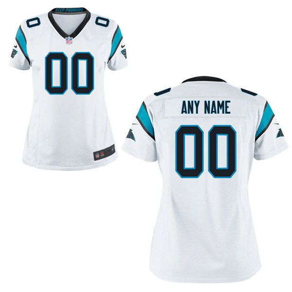Women Carolina Panthers Nike White Custom Game NFL Jersey
