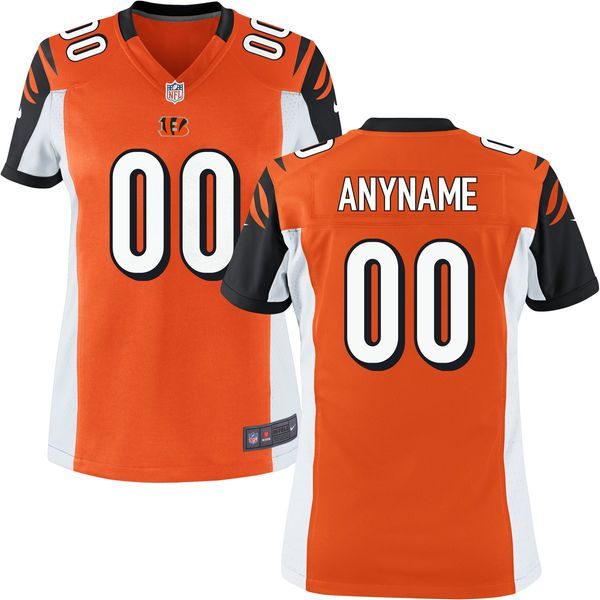 Women Cincinnati Bengals Nike Orange Custom Game NFL Jersey