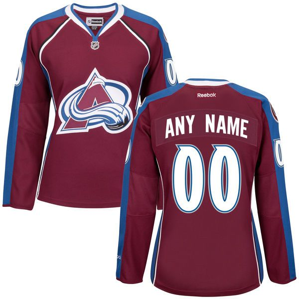 Women Colorado Avalanche Maroon Premier Home Custom NHL Jersey