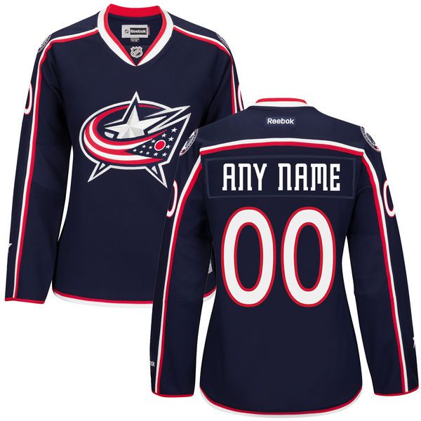 Women Columbus Blue Jackets Navy Premier Home Custom NHL Jersey