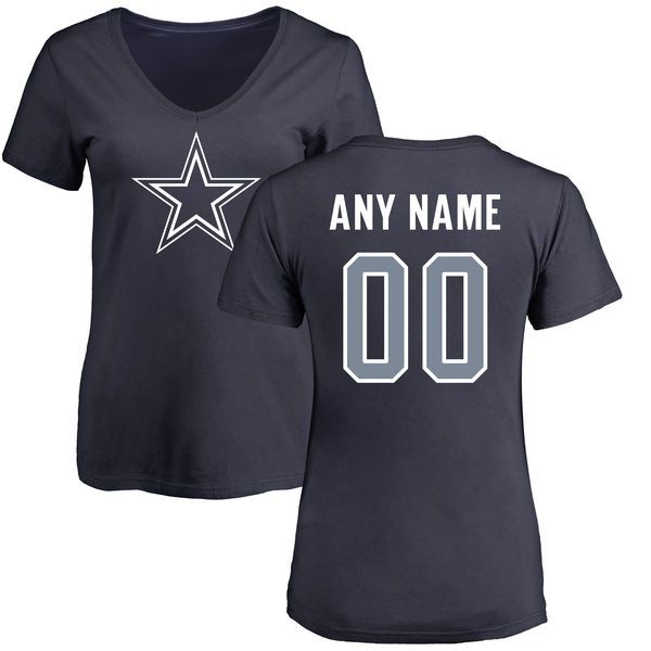 Women Dallas Cowboys NFL Pro Line by Fanatics Branded Navy Custom Name and Number T-Shirt