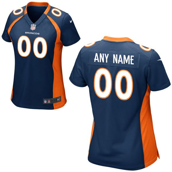 Women Denver Broncos Nike Orange Custom Game NFL Jersey