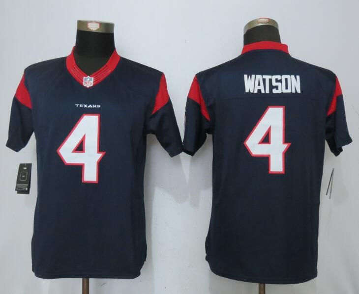 Women Houston Texans 4 Watson Blue New Nike NFL Jersey