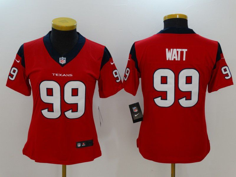 Women Houston Texans 99 Watt Red Nike Vapor Untouchable Limited NFL Jersey