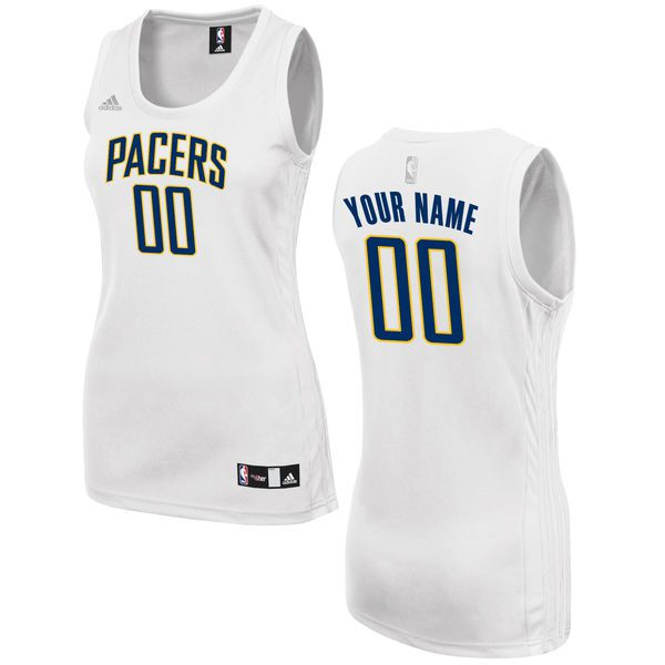 Women Indiana Pacers Adidas White Custom Fashion NBA Jersey