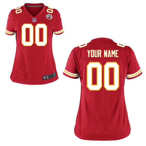 Women Kansas City Chiefs Nike Red Custom Game NFL Jersey