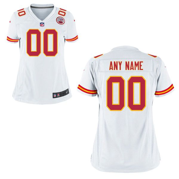 Women Kansas City Chiefs Nike White Custom Game NFL Jersey