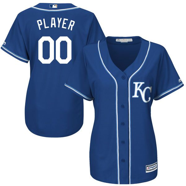 Women Kansas City Royals Majestic Royal Blue Cool Base Alternate MLB Jersey