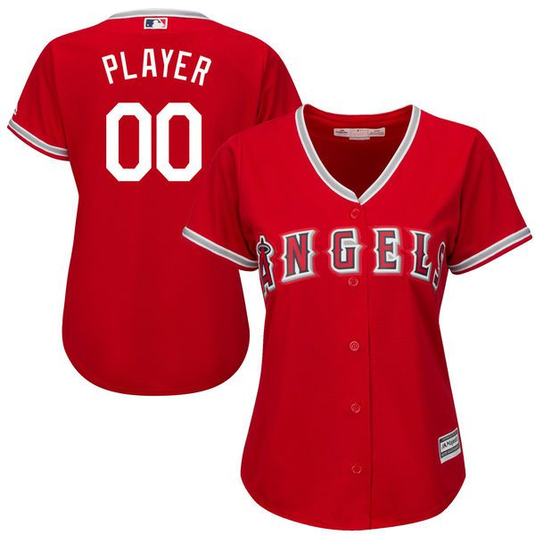 Women Los Angeles Angels of Anaheim Majestic Red Scarlet Cool Base Alternate MLB Jersey
