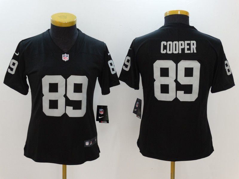 Women Oakland Raiders 89 Cooper Black Nike Vapor Untouchable Limited NFL Jersey