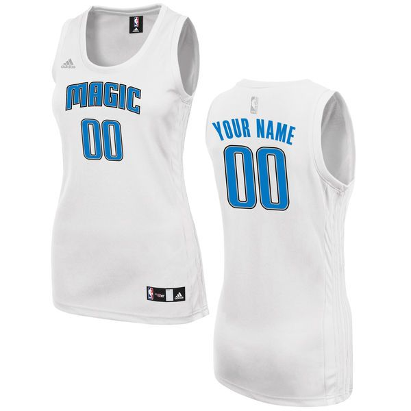 Women Orlando Magic Adidas White Custom Fashion NBA Jersey