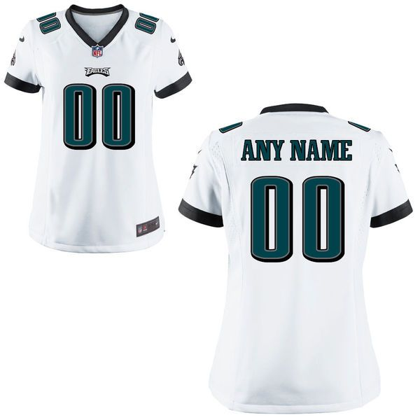 Women Philadelphia Eagles Nike White Custom Game NFL Jersey