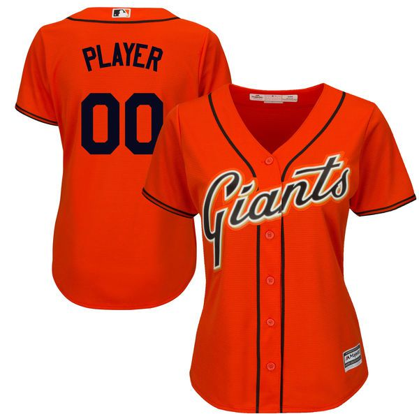 Women San Francisco Giants Majestic Orange Cool Base Alternate MLB Jersey