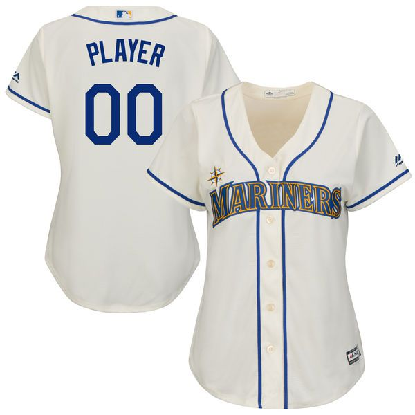 Women Seattle Mariners Majestic Cream Home Cool Base MLB Jersey