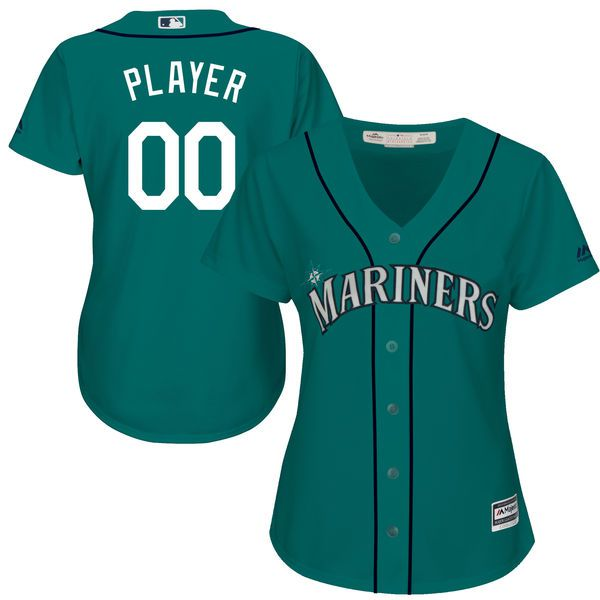 Women Seattle Mariners Majestic Green Cool Base Alternate MLB Jersey