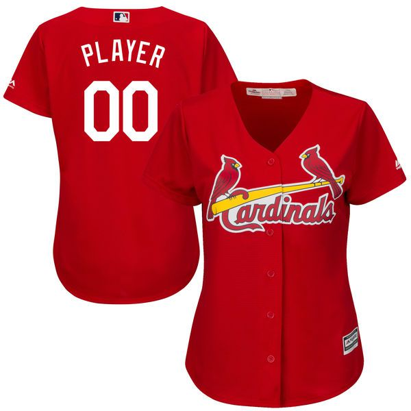 Women St. Louis Cardinals Majestic Red Scarlet Cool Base Alternate MLB Jersey