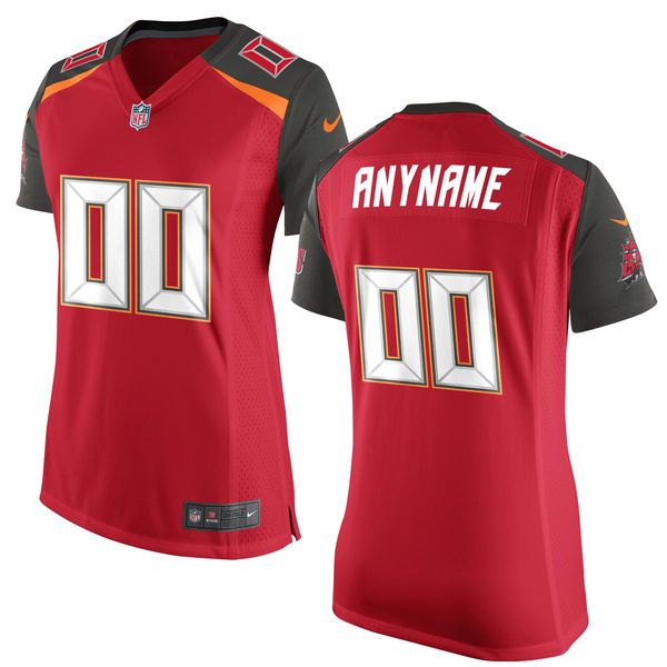 Women Tampa Bay Buccaneers Nike Red Custom Game NFL Jersey