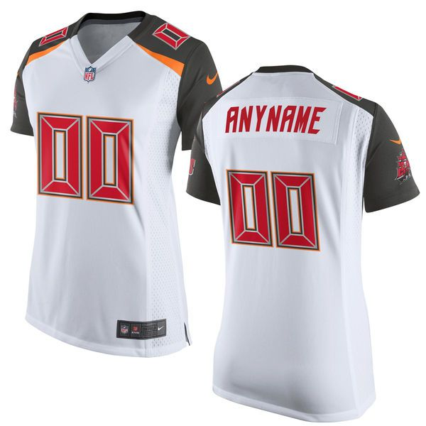 Women Tampa Bay Buccaneers Nike White Custom Game NFL Jersey