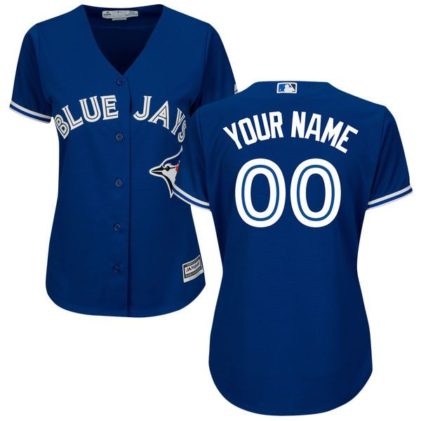 Women Toronto Blue Jays Majestic Royal Blue Alternate Cool Base Custom MLB Jersey