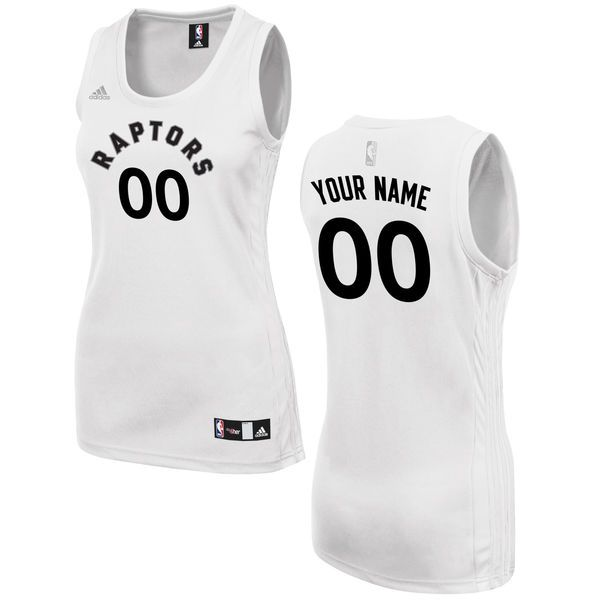 Women Toronto Raptors Adidas White Custom Fashion NBA Jersey
