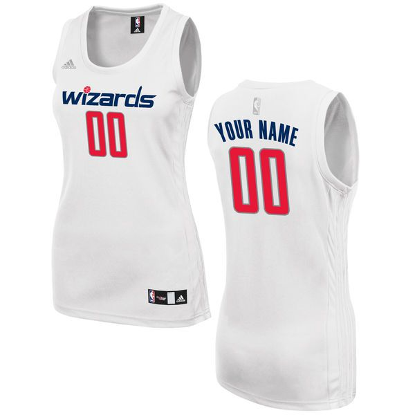 Women Washington Wizards Adidas White Custom Fashion NBA Jersey