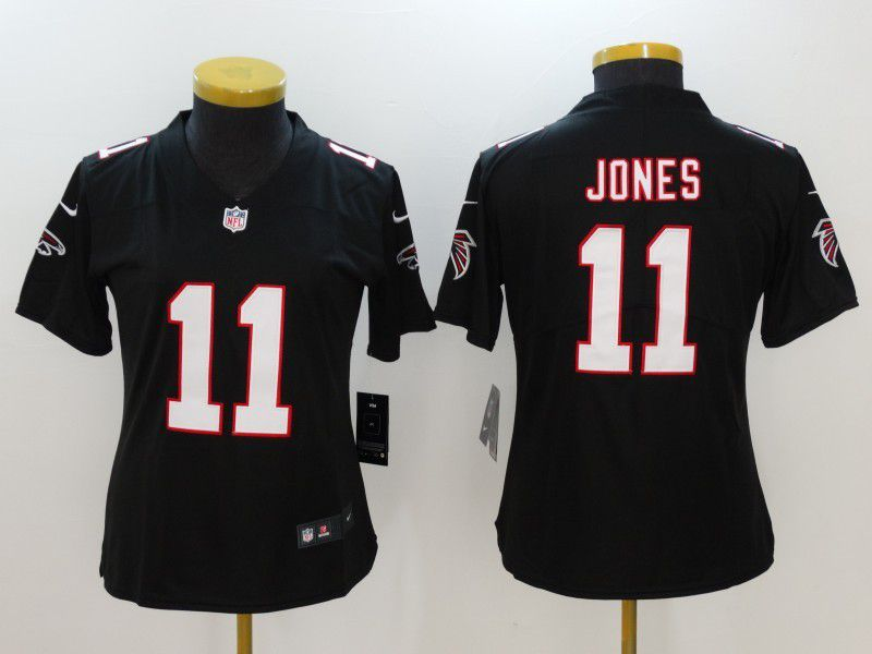 Womens Atlanta Falcons 11 Jones Black Nike Vapor Untouchable Limited NFL Jersey