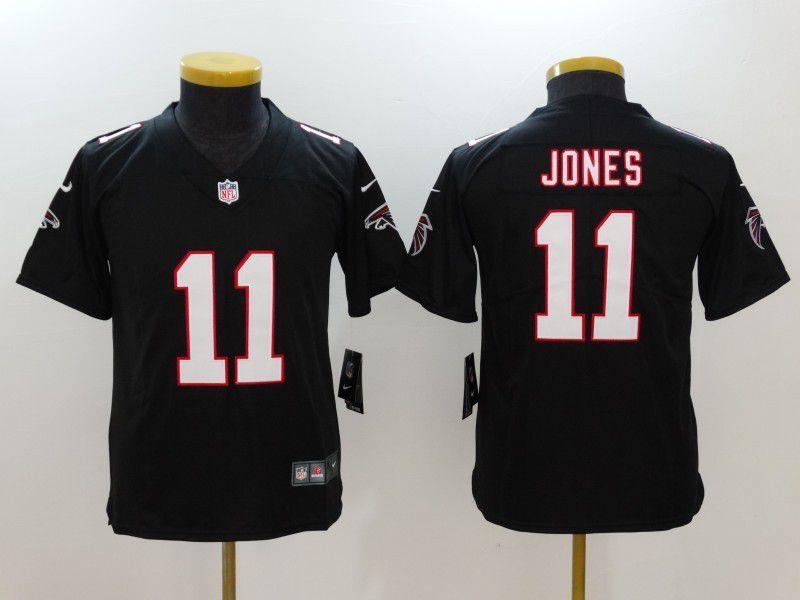 Youth Atlanta Falcons 11 Jones Black Nike Vapor Untouchable Limited NFL Jersey