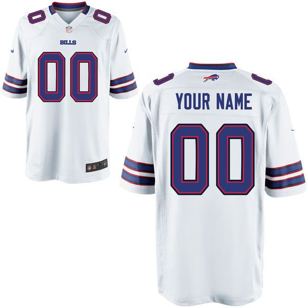 Youth Buffalo Bills Custom Game White NFL NFL Jersey