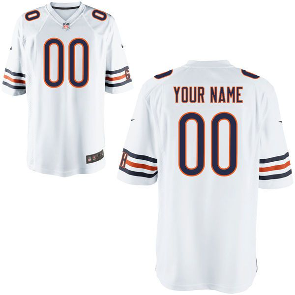 Youth Chicago Bears Custom Game White NFL Jersey