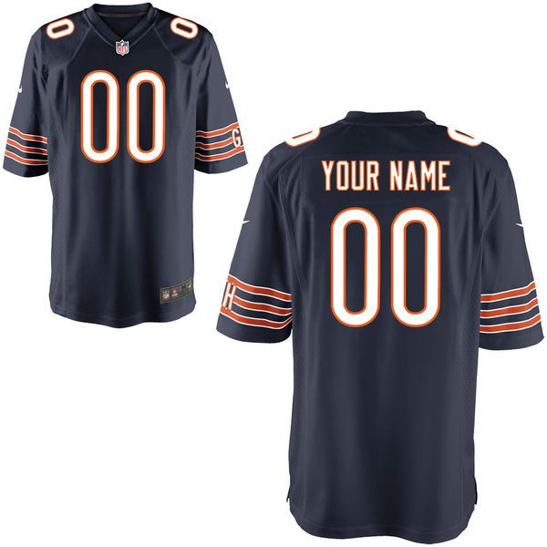 Youth Chicago Bears Nike Navy Custom Game NFL Jersey