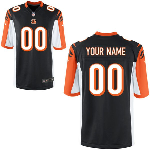 Youth Cincinnati Bengals Nike Black Custom Game NFL Jersey