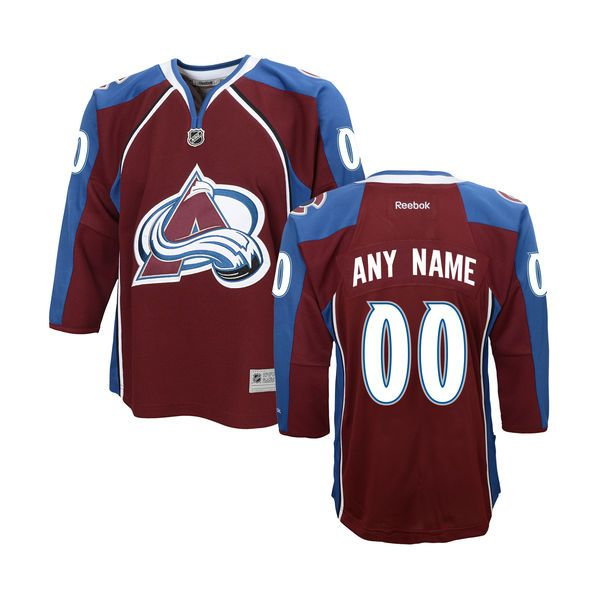 Youth Colorado Avalanche Reebok Maroon Home Premier Custom NHL Jersey