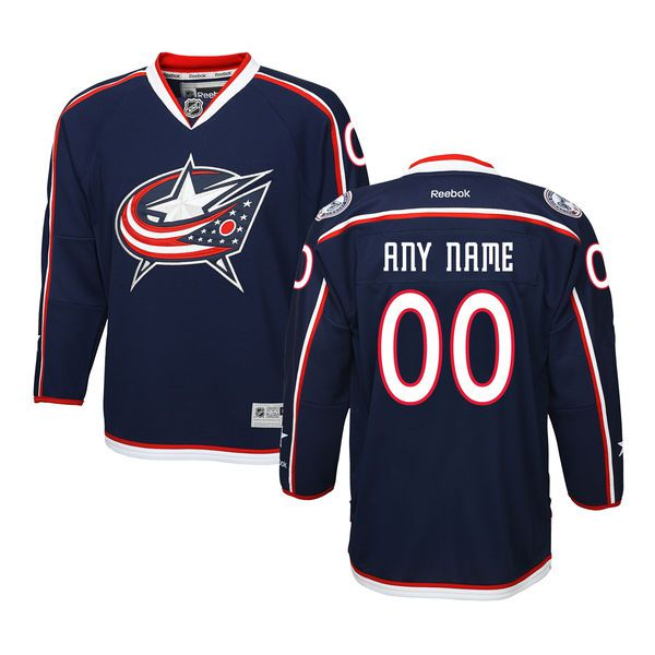 Youth Columbus Blue Jackets Reebok Navy Home Premier Custom NHL Jersey
