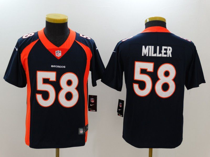 Youth Denver Broncos 58 Miller Blue Nike Vapor Untouchable Limited NFL Jersey