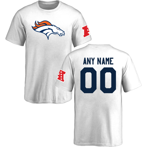 Youth Denver Broncos Design-Your-Own Short Sleeve Custom NFL T-Shirt