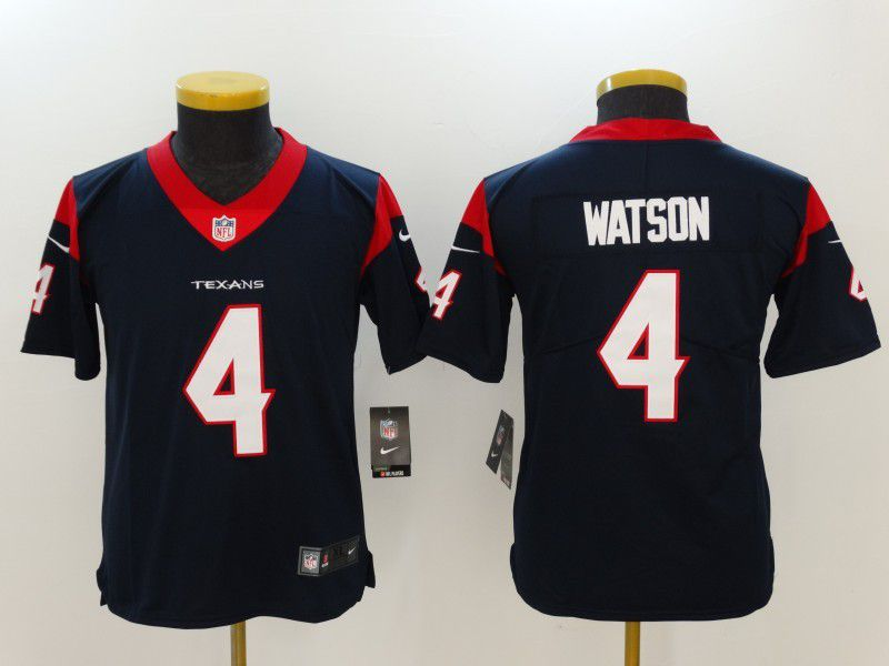Youth Houston Texans 4 Watson Blue Nike Vapor Untouchable Limited NFL Jersey