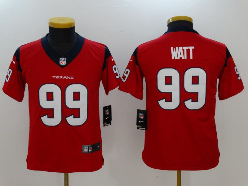 Youth Houston Texans 99 Watt Red Nike Vapor Untouchable Limited NFL Jersey
